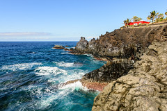 Charco Verde (Vladi Stoimenov) Tags: sea sky sun nature water wonderful landscape nice spain waves colours wind canary lapalma atlanticocean canaryislands colourfull d610 nikonlens stoimenov nikkor1424