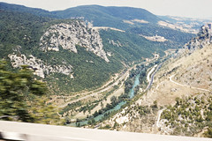 Candigliano River form the Furlo Pass (Passo del Furlo), Marche, Italy, 1958 (gbfernie5) Tags: vacation italy holiday river 1950s 1958 gorge kodachrome bobbieobritton