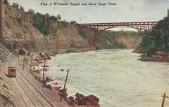 View of Whirlpool Rapids and Great Gorge Route - Niagara Falls (The Cardboard America Archives) Tags: newyork ontario vintage niagarafalls postcard waterfalls