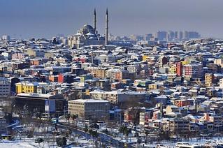 Aerial Wintertime Fatih Complex