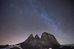 Sassolino, Dolomites (mattiarizzi) Tags: night stars photography nikon italia val di trentino dolomites canazei d800 fassa sassolungo