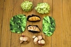 Play food made from scraps (quinn.anya) Tags: potatoes sewing lettuce fabric grapes croissants playfood
