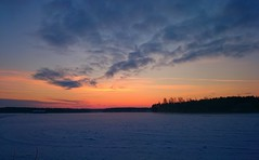 Sunset (SSBBSBSSBSBS) Tags: trees winter sunset sky snow ice nature field finland skyscape landscape evening europe view sundown natural outdoor snowy timber january scene scandinavia scape europeanskyscapes