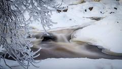 Frozen waterfall (Mika Laitinen) Tags: longexposure winter white snow cold tree nature water canon suomi finland waterfall helsinki vanhankaupunginlahti frost outdoor ngc va 7d uusimaa ef24105mmf4l