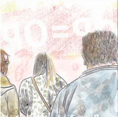 # 22 (22-01-2016) (h e r m a n) Tags: herman tekening illustratie illustration drawing back rug rucke ruckenfigur opop 10x10cm 3651tekenevent karton zwembad oosterhout bock cardboard carton ruggenfiguur backfigure beeldbad 2016