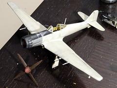 1:72, Kawasaki Ki-100-III KAI 1945 (Whif/Aoshima Ki-100-Ib conversion) - WiP (dizzyfugu) Tags: japan army japanese tokyo high model fighter force conversion altitude aviation air tony imperial late nippon kit 1945 ta 213 luft hien 46 172 aoshima lorne interceptor 1946 fictional tokio 152 b29 whatif modellbau fussa hikoki teikoku jumo whif ki61 ki100 rikugun 大日本帝國陸軍飛行戰隊dainippon hikōsentai