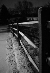 Fence (imjackhandy) Tags: morning snow fence haiku knoxville walk tennessee 575 theothermorning meadowlarklane theothermorningitstartedtosnow
