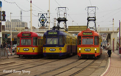 At the Tower (barry.young10) Tags: tower car transport twin tramway blackpool 672 674 685