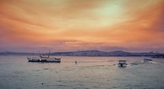 Red dreams in stanbul (naturalminer) Tags: city clouds istanbul bosphorus