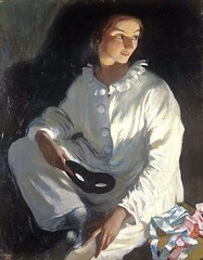 Self-portrait as Pierrot, 1911 //  by Zinaida Yevgenyevna Serebriakova (Russia, 1884-1967 (mike catalonian) Tags: portrait female painting fulllength ukraine 1910s 1911 xxcentury serebriakova