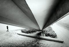 A Futile Perspective (thewhitewolf72) Tags: street schnee winter berlin alexanderplatz fernsehturm perspektive geometrie dreieck fluchtpunkt