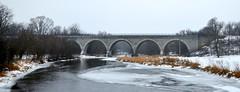 Just Imagine (Theresa*) Tags: railroad bridge winter snow cold ice stone wisconsin creek arch clinton unionpacific turtlecreek nikond7000 tiffanystonebridge