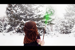 Always. (shelby gill) Tags: winter portrait selfportrait snow motion girl self hair blood wind witch wizard snowy wand harry potter harrypotter prince evergreen half environment snowing brunette snape hermione slytherin granger hermionegranger halfbloodprince severus alanrickman severussnape winterportrait evergreenportrait