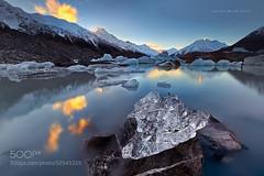 A Tasman Winter (Big_Joker) Tags: park new light sunset lake ice landscapes mt lakes cook sunsets christian glacier mount zealand national glaciers tasman pursuit lim aoraki 500px
