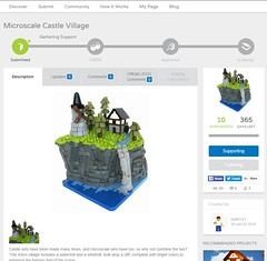 Now on Lego Ideas! (Halhi141) Tags: castle village lego medieval micro ideas fragile moc cuusoo microscale