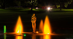 Mother and child (Ralph Green) Tags: longexposure colors statue night colours australia watergarden perth bronzestatue fountains kingspark westernaustralia pioneerwomensmemorial kingsparkandbotanicalgarden