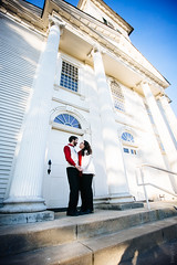 Caleb & Kate - Engagement (Sassenach5) Tags: red white love church canon engagement sweater couple pillar 1635mm f28l