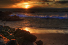 On the Rocks (Sunset Dogs) Tags: