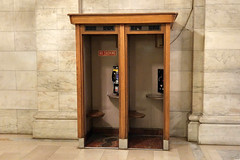 Not many of these left--New York Public Library, 2-6-2016 (kovno) Tags: nyc newyork booth phone telephone manhatten telephonebooth