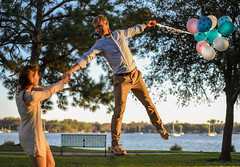 DSC_0606 (will.mcgalliard) Tags: sunset water fountain river balloons engagement baloon ring frame d750 jacksonville ortega