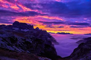 Morgengrauen in Südtirol