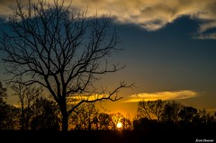 February Sunset Pentacon (Scott Dunson) Tags: cloudy partly