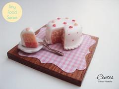 Pink Heart Cake   Tiny Food Series (UrbansFairytales) Tags: wood pink cake miniature doll heart polymerclay bjd 112 dollhouse petiteblythe latiyellow latiwhite pukifee realpuki tinydelf