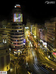Gran Via Night Live (Alesfra) Tags: madrid life road street city light sunset people urban españa building luz car skyline architecture night composition advertising noche photo calle promo spain arquitectura foto view carretera dusk balcony capital edificio ciudad paisaje capitol coche vida vista nocturna urbana vodafone tamron balcon anochecer omd urbanscape schweppes landascape em1 estela sinespejo mirrorless alesfra albertojespiñeirafrancés alesfraphotography alesfrafotografia wwwalesfracom olympusem1 olympusomdem1 tamron14150mmf3558diiii