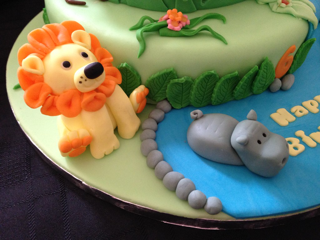 Monkey jungle cake (Cakes by Debs) Tags: birthday bear two elephant ...