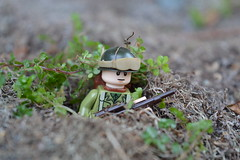 Foxhole (~J2J~) Tags: soldier outdoors lego american ww2 foxhole minifigure brickarms