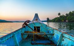 Tarkarli backwaters (hardikboda) Tags: morning cruise sunrise landscape dawn boat outdoor ngc rope palm anchor maharashtra backwaters konkan tarkarli malvan karliriver