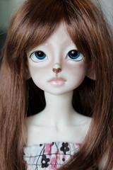 Ellory (kickyresin) Tags: doll faith bjd hybrid abjd monique yul balljointed reddishbrown mnf kdf 14mm kiddelf minifee kniklampwork