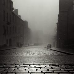 Untitled (...Matt Pringle...) Tags: street city uk morning urban 6x6 film fog mediumformat square scotland stirling v500 minoltaautocord mattpringle