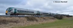 22053+22029 pass the Curragh, 5/3/16 (hurricanemk1c) Tags: irish train rail railway trains railways irishrail rok rotem countykildare 2016 icr iarnród 22000 22053 éireann thecurragh iarnródéireann 3pce 0715wesportheuston