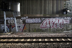 Avno (Alex Ellison) Tags: urban graffiti boobs railway nhs graff trackside cbm avno