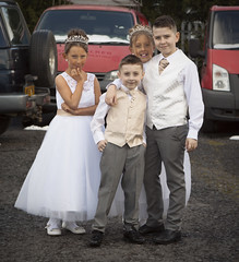 The Wedding of Margarita and John (craig antony spence) Tags: tiara children dress suit bridesmaids pageboy
