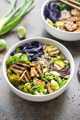 Grilled Tofu Miso Noodle Soup (Yack_Attack) Tags: winter red brussels food brown hot macro dinner recipe asian photography soup miso blog vegan healthy nikon rice tofu broccoli vegetarian cabbage noodles onion easy 60mm fusion grilled quick sprouts props styling entree glutenfree d600 dairyfree eggfree veganyackattack