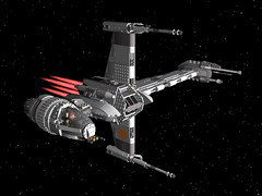 Lego 10227  UCS B-Wing Starfighter (papacharly24) Tags: star lego wars povray ucs starfighter ldraw bwing 10227 ldcad