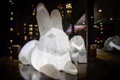 Happy Easter to all my Friends who are Celebrating! (A Great Capture) Tags: city urban white toronto ontario canada rabbit bunny bunnies art night dark lights spring downtown photographer canadian financialdistrict nighttime inflatable rabbits easterbunny springtime whiterabbit on intrude agc happyeaster eastersunday 2016 jamesmitchell publicartinstallation adjm brookfieldplace 7metres amandaparer wwwagreatcapturecom agreatcapture mobilejay