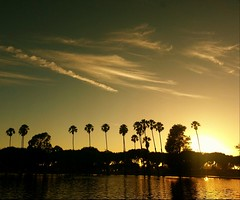 Sunset @ Torrance, CA (Ken Cruz --- Fernweh) Tags: california sunset lake nature silhouette landscape losangeles warm serene westcoast torrance naturallandscape manmadelake