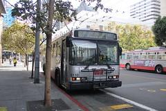 2000 Neoplan AN440A #8110 (busdude) Tags: sf san francisco 2000 railway muni municipal neoplan sanfranciscomunicipalrailway 8166 an440a