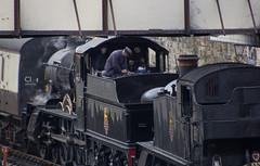 Firing the loco (D R Swift) Tags: llangollen llangollenrailway northwales steamlocomotives llangollenstation enginefireman