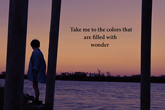 Colors (thewallflowers.) Tags: pink blue sunset portrait orange lake selfportrait colors silhouette youth photoshop self wonder photography colorful photographer purple photoshoot gabby gabrielle youngphotographer youngphotography