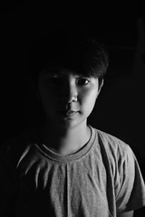 sidelight12 (Wannifah) Tags: portrait blackandwhite monochrome sidelight