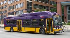 King County Metro 2015 New Flyer XT40 4371 (zargoman) Tags: seattle county travel bus electric king metro trolley transportation transit kiepe elektrik kingcountymetro newflyer lowfloor xcelsior