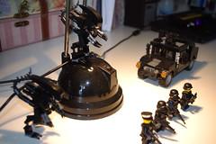 Lego alien raid the SWAT team (littlebricker) Tags: soldier lego alien police humvee swat minifigure