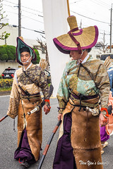 Sakura Parade - Hirano Shrine (Pic_Joy) Tags: portrait festival japan costume spring kyoto asia traditional blossoms culture traditions parade celebration bow  arrows  warrior sakura cherryblossoms samurai procession archer  jinja hanami bushi     buke      hirano    hiranoshrine     sakuraparade