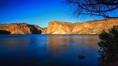 Canyon Lake Late Afternoon (CEBImagery.com) Tags: sunset arizona lake rocks warm afternoon canyon late