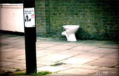 Toilet Ideal For Doggo` (roll the dice) Tags: uk england urban dog pet money london art classic pee sign bathroom funny closed sad camden flash pipes streetphotography surreal pickup toilet pole cash wc rubbish poo urine mad holloway left islington porcelain plumb vanished fined skint n19 uperholloway
