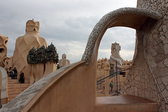 Rooftop, Casa Mil (Rainbowfish7) Tags: barcelona spain espana gaudi casamil lapedrera
